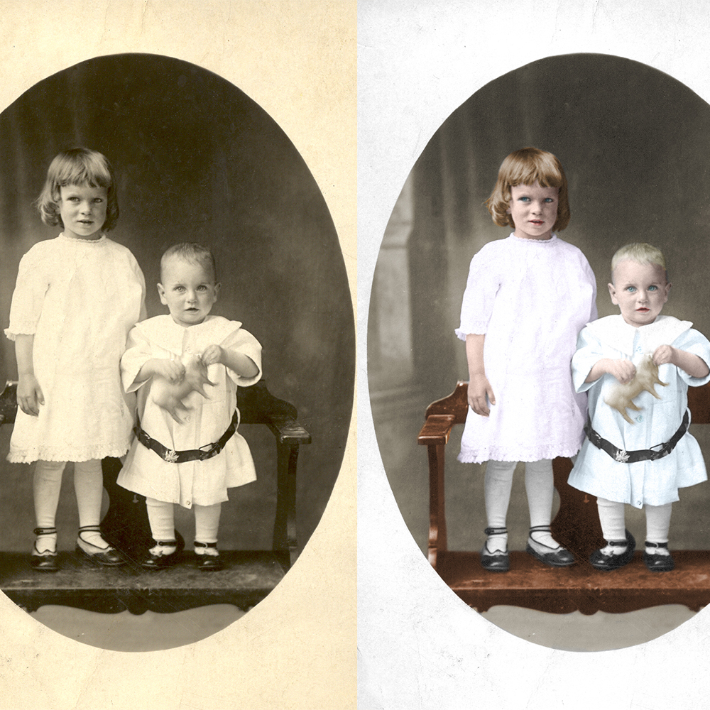 Two subject colorization